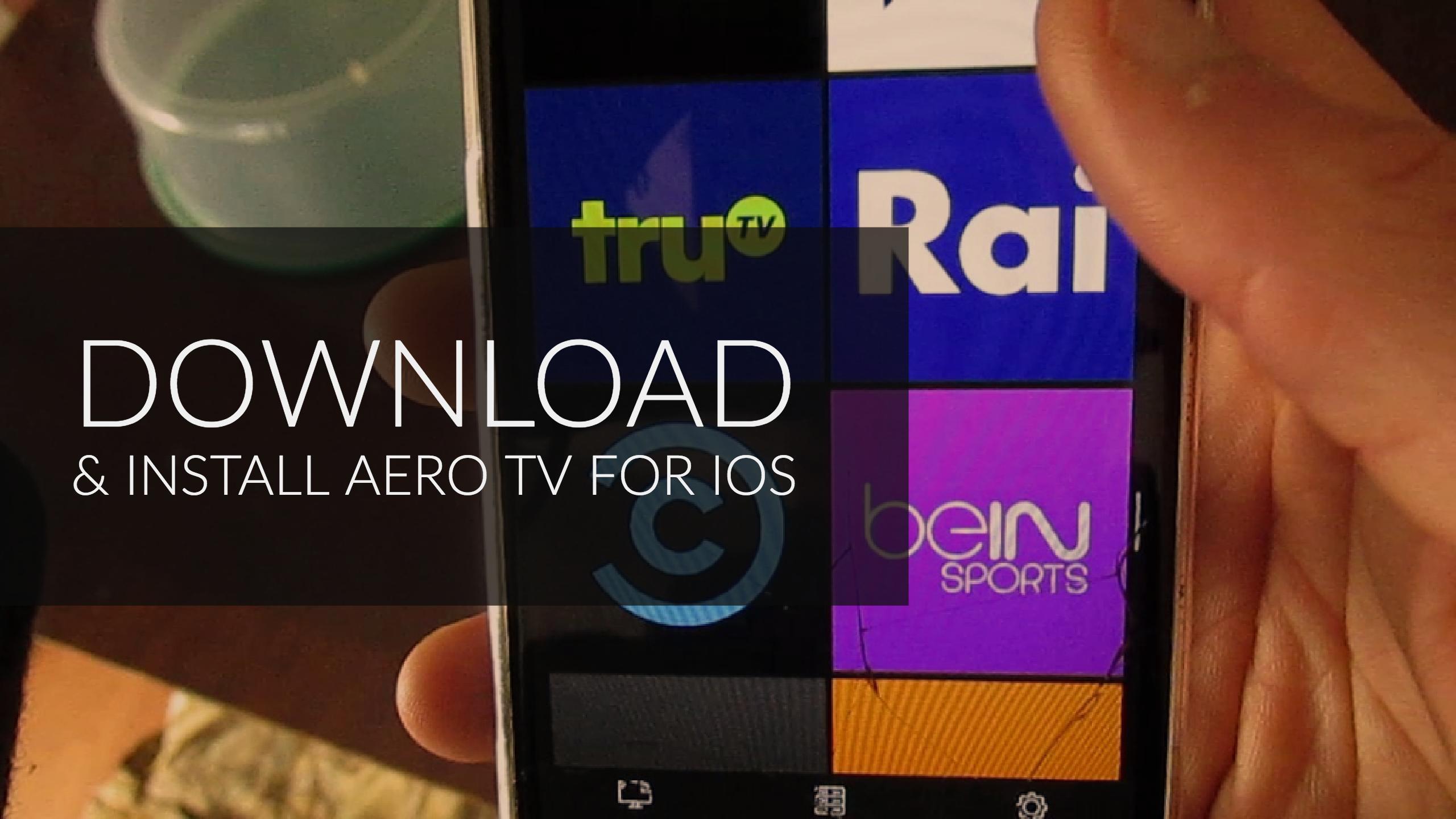 download aero tv app for iOS