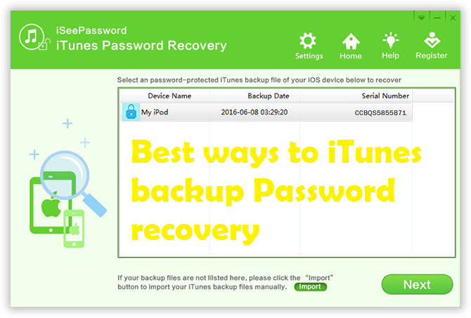 itunes password recovery solutions