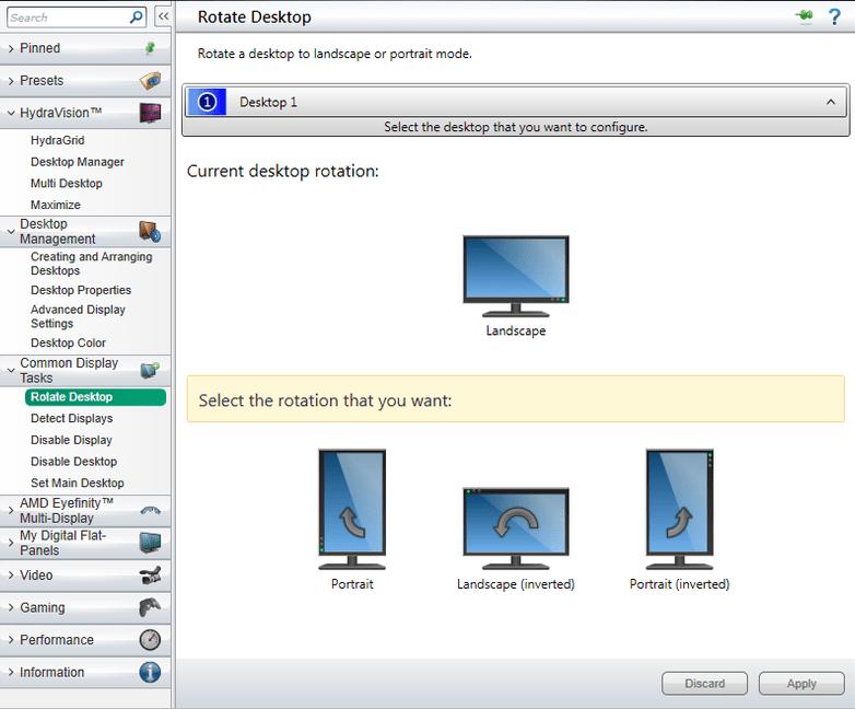 Rotation screen windows