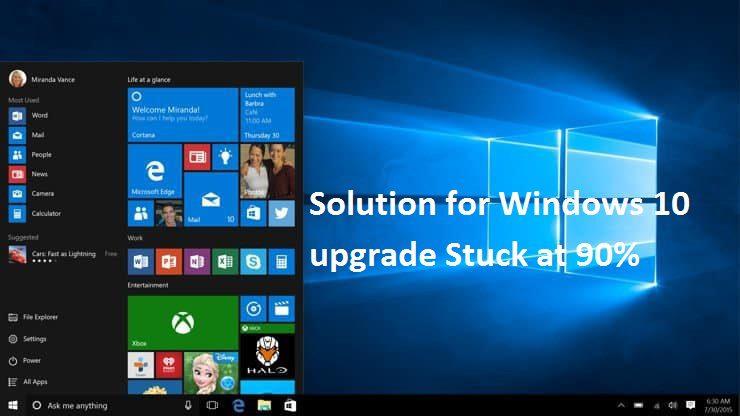 Windows 10 upgrade stuck