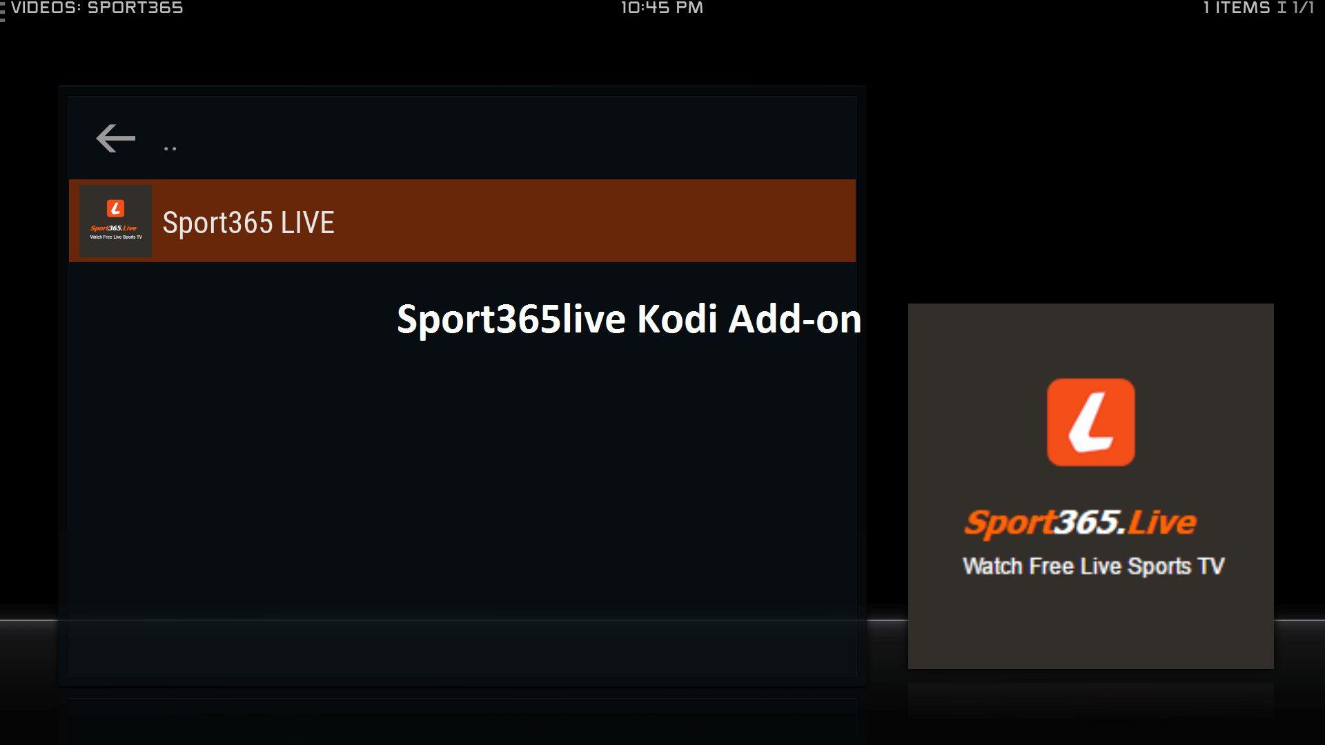 Sports365live add-on
