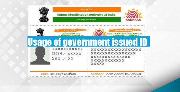 government issued ID usage